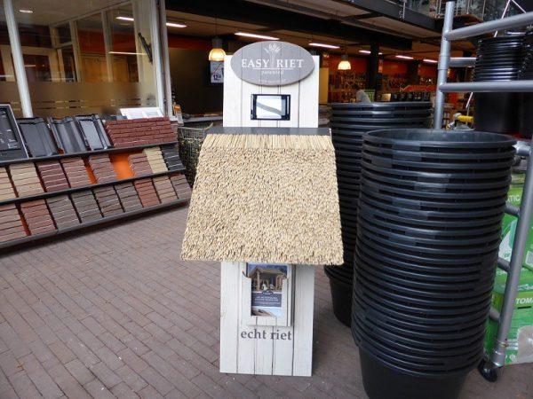 houten display winkel
