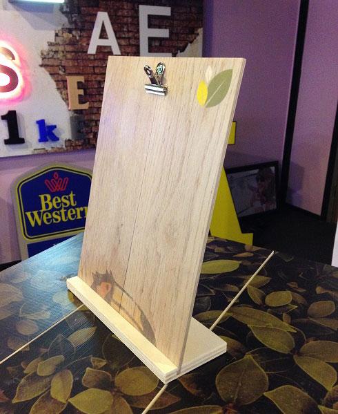 menukaart hout bedrukt