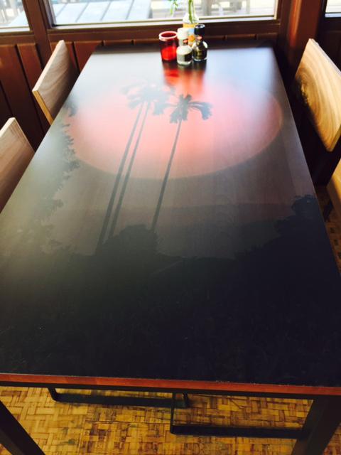bedrukt tafelblad