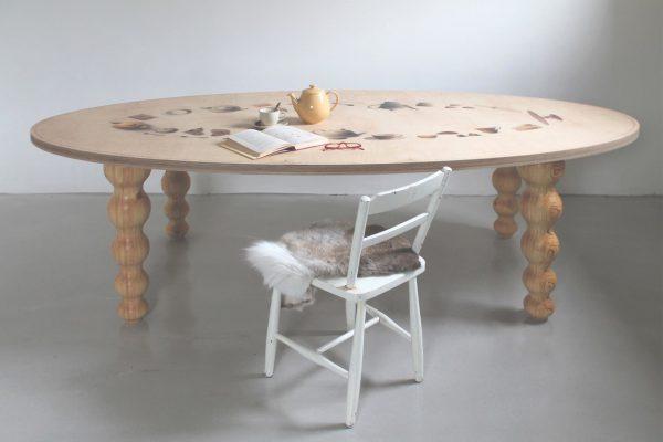 houten tafelblad bedrukt