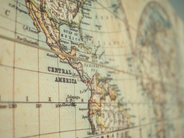 Wereldkaart Klassiek Hout