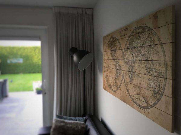 Wereldkaart Klassiek in Woonkamer