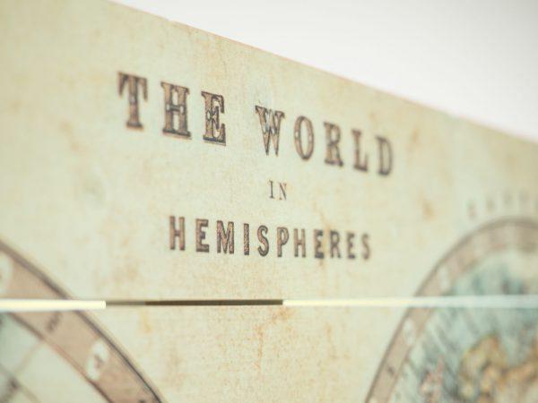Wereldkaart op Hout Klassiek