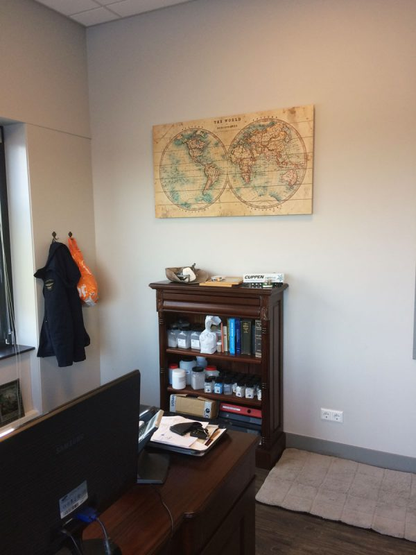 Klassieke Houten Wereldkaart