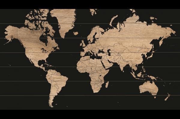 Wereldkaart Wood