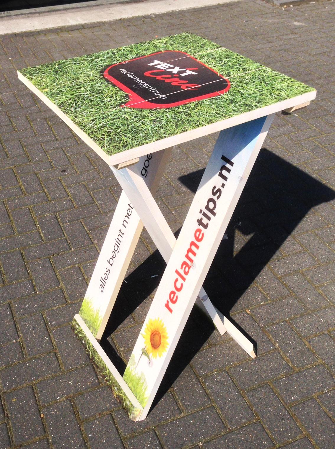 Welp Statafel op Hout nodig? Laat je Ontwerp bedrukken door Woodprint! HL-86
