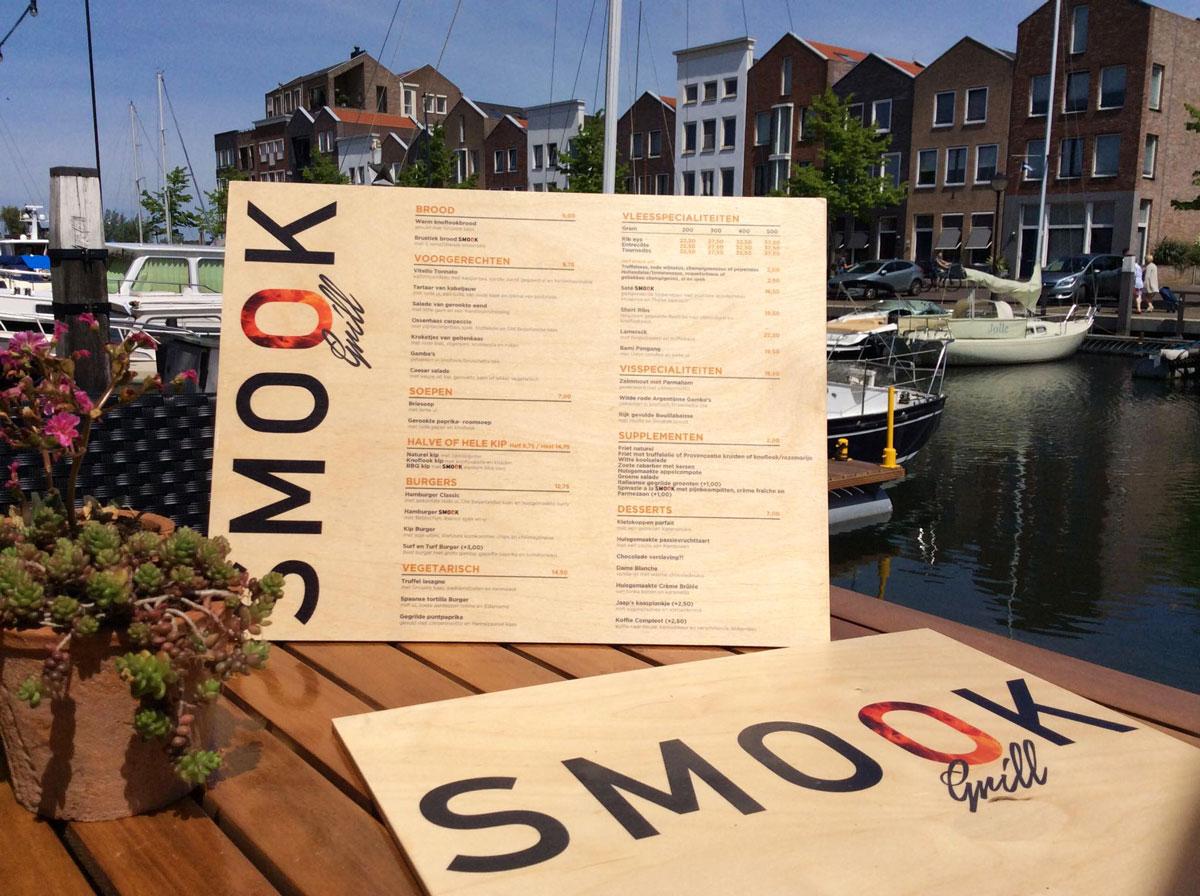 Menukaart van Hout Restaurant Smook