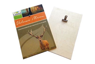 Houten-menukaart