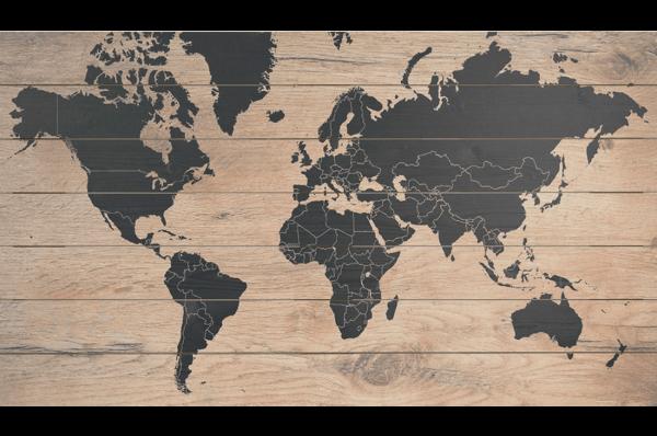 Wereldkaart-Black
