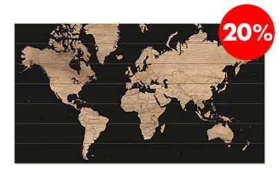 Wereldkaart-sale