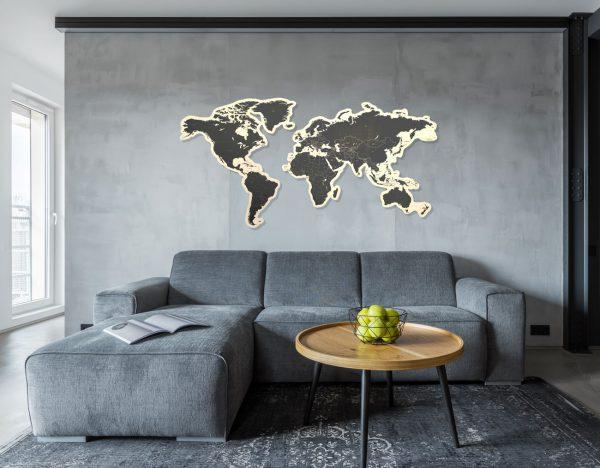 Wereldkaart-Shape-woonkamer