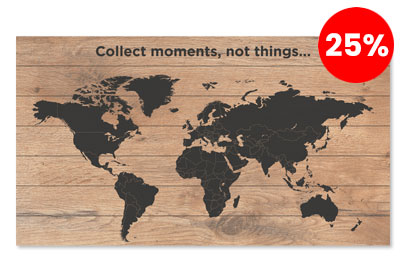 Wereldkaart-korting